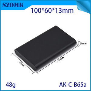 China 100*60*13mm SZOMK Aluminium Enclosure For Electronic Devices and PCB/AK-C-B65a factory