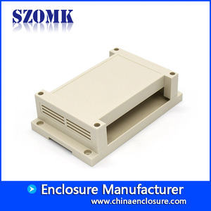 China SZOMK Hot Selling Plastic Enclosure Electronics  Din Rail Box With Connectors/AK80007 173.8*138.5*57mm factory