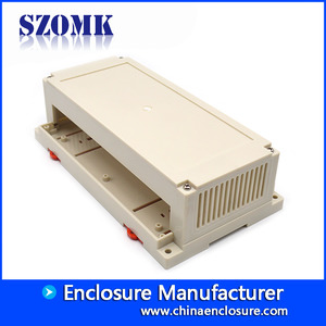 China 200*110*60mm Newest Design Plastic Din Rail PLC Project Enclosure For Electronic Devices/AK-P-25 factory