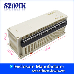 China 300*110*110mm szomk din rail plastic enclosure AK-P-23a factory