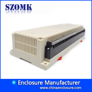 China 300*110*60mm SZOMK plastic din rail PLC instrument enclosure housing box for electronic devices/AK-P-26a factory