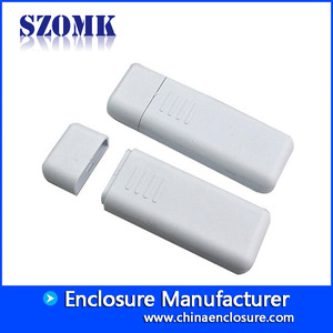 China 80*26*12 mm White color plastic small usb case housing for electronics /AK-U-01 factory