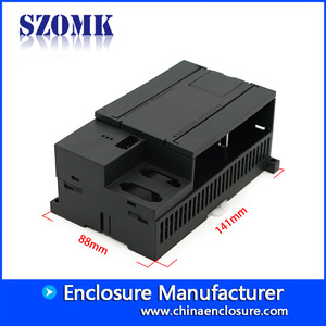 China ABS plastic enclosure din rail enclosure box din cabinet for electronics 141*88*62mm factory