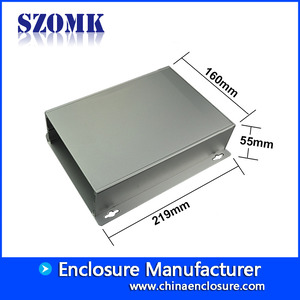 Chine Aluminium enclosure electronic with metal bracket case for project box usine