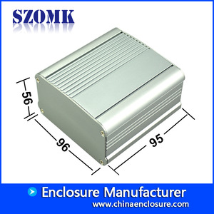 China Aluminum extruded enclosure box for pcb and DIY electronics AK-C-C26 56*96*95 mm factory