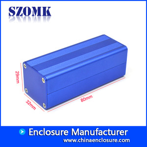 China Custom Extruded Aluminum Inverter Enclosure For Electronics Aluminium electronic case AK-C-C70 80 * 32 * 29mm factory