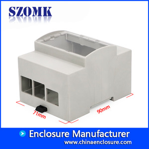 Chine Guangdong high quality abs plastic din rail 90X71X62mm industrial junction box manufacture/AK-DR-63 usine