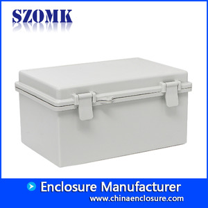 China Large size hinge cover waterproof box sealed box IP65 plastic eletronics enclosure AK-01-31 285*189*140 mm factory
