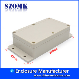 China IP65 waterproof enclosure ABS plastic box with flanges for PCB AK-B-7 factory
