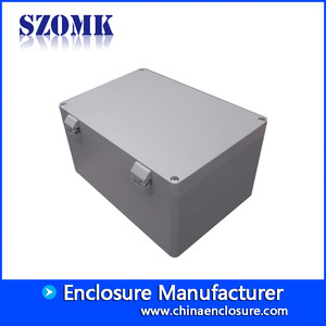 China IP66 waterproof die cast aluminum enclosure for electronic metal box size 330*230*180mm factory