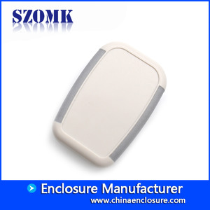China Light grey color abs plastic handheld enclosure manufacturer/AK-H-11 factory