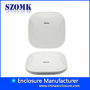 China OEM White WIFI Round Electronic Plastic Enclosures for Wireless Router AK-NW-52 190*190*50mm factory