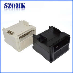 China New type plastic din rail enclosure shell for control box  housing AK-P-31 140*135*85mm factory