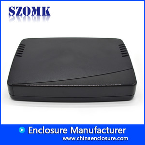 China Professional Plastic ABS Network Router Enclosure from SZOMK/ AK-NW-12a/ 173x125x30mm factory