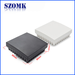 China SZOMK 80 X 80 X 27 mm square junction pcb custom plastic enclosure factory factory