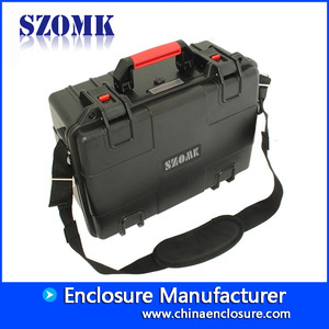 China SZOMK ABS handheld plastic tool box Multi-function portable instrument storage Case for Woodworking Electrician repair AK-18-09 520X400X145mm factory