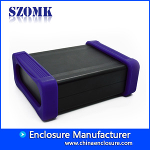China SZOMK Aluminum extruded enclosure for electronics with rubber for PCB AK-C-C72 38*88*110mm factory