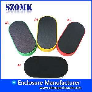 China SZOMK stylish standard enclosure for pcb and elecronics AK-S-124 200X100X32mm factory