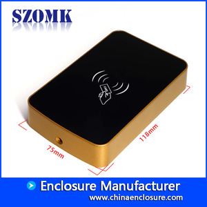 China SZOMK Custom IP54 abs plastic junction box RFID enclosure for Card reader AK-R-160 118*75*22mm factory