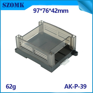 China SZOMK Din Rial Housing Case for Electronics Common Use Abs Plastic Control Box AK-P-39 factory