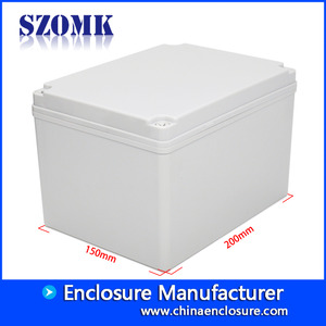 Fabbrica della Cina SZOMK IP66 Manufacturer Custom Injection Plastic Box For Pcb Board Humidity Sensor Enclosure Junction Abs Switch Case 200*150*130 mm/AK-AG-28