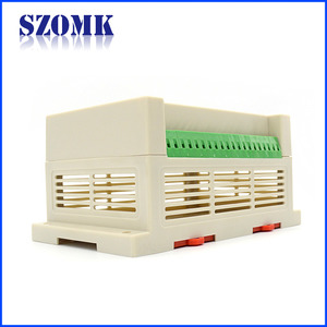 SZOMK din rail casing with terminal blocks for electronics AK-P-10a 145*90*72mm
