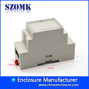 China SZOMK din rail enclousrepcb mount abs enclosure AK-DR-39  87*60*35mm factory