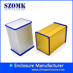 China SZOMK  extruded  trolley handle  aluminum case for screen  fabric factory