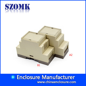 China SZOMK fireproofing material plastic enclosure for din-rail AK80001 87*60*35 factory
