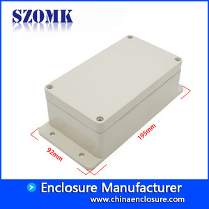 China SZOMK ip65waterproof outdoor electrical junction box for pcb AK-B-12 195*92*61mm factory