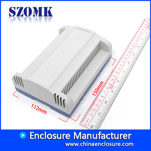 China SZOMK plastic din rail enclosure industrial control box/AK-DR-57/150*112*56mm factory