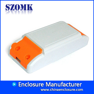 China SZOMK small ABS plastic enclosure LED driver supply box for pcb AK-14 115*45*27mm factory