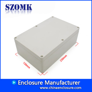 China SZOMK waterproof outdoor electrical junction box AK-B-15 230*150*83mm factory
