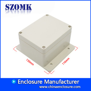 China SZOMK weatherproof electrical enclosures IP65 ABS plastic waterproof box for outdoor electronics 130*116*68mm factory