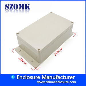 China SZOMK weatherproof plastic enclosure box for electrical apparatus AK-B-11 243*122*74mm factory