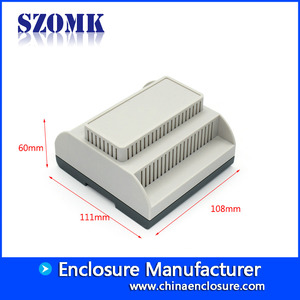 China Self-extingugishing material plastic din-rail enclosure for electronic component AK80011 111*108*60mm factory