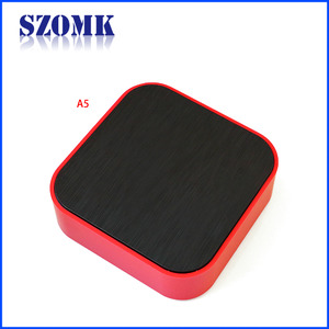 China SZOMK smart home circular fence wireless circular fence housing for AK-S-123 98X98X32mm Bluetooth wireless devices factory