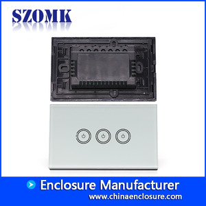 China Shenzhen new design abs plastic with glass cover access control 120X74X38mm enclosure supply/AK-R-161 factory