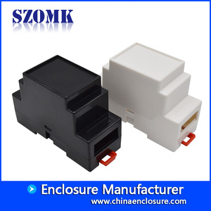 China Small ABS din-rail enclosur for industrial electronics AK-DR-01 88*37*59mm factory