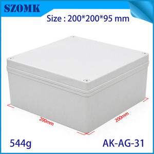 La fábrica de China Szomk Big Square Clave IP66 Caja de conexiones impermeables AK-AG-31 200 * 200 * 95 mm