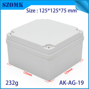 China Szomk small square enclosure IP66 waterproof junction box AK-AG-19 125*125*75mm factory