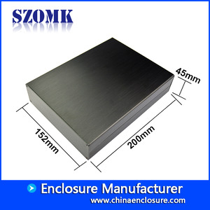 China aluminum project box enclosure case for power supply AK-C-C19 45*152*200mm factory