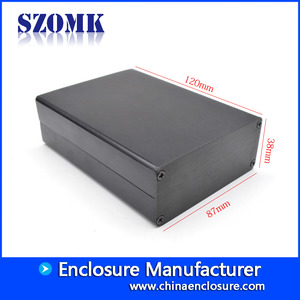 China black aluminum project box enclosure case for electronnis AK-C-C77 38*87*120mm factory