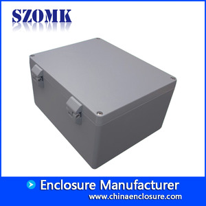 中国China high quality Aluminum Waterproof Connectors Distribution Box for Electronics AK-AW-85 280*230*149 mm工場