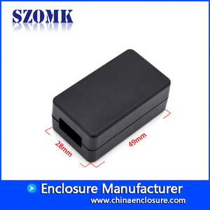 China customized black abs plastic USB socket female port junction box size 49*29*20mm fabriek