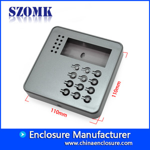 China door access control enclosure keypad plastic attendence enclosure size 110*110*21mm factory
