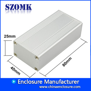 China electrical custom aluminum hard case for pcb AK-C-C16 25*40*80mm factory