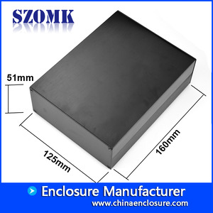 China electronic diy aluminum project box for power supply AK-C-C21 51*125*160mm factory