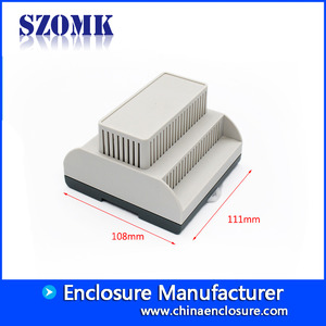 China high quality SZOMK factory supply plastic din-rail enclosure AK80009 111*1108*74mm factory