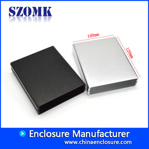 China Beautiful small extruded aluminum enclosure boxes for amplifier AK-C-C75 25*63*73mm factory